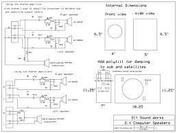 Diy Speaker Box Schematics Diy Sound Works 2 1 Computer Speakers Or Small Room Speakers