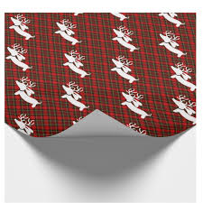 christmas plaid wrapping paper reindeer dachshund christmas gift wrap the smoothe store