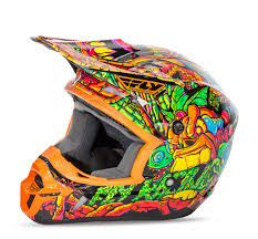 motocross helmets kids fly racing new 2016 youth mx kinetic jungle orange green motocross