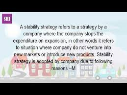what do you by stability strategies