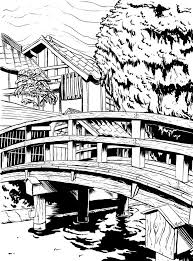 japanese town japanese town bw by michaellinkjr on deviantart