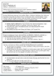 Resume Format For Diploma In Civil Engineering Resume Format