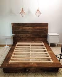 Wood Platform Bed Frame Diy Reclaimed Wood Platform Bed Bedrooms Handmade Furniture And