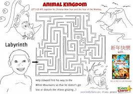 animal kingdom colouring pages activity sheets