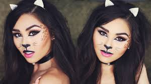 halloween cat makeup tutorial roxette arisa youtube