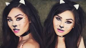 Kitty Halloween Makeup by Halloween Cat Makeup Tutorial Roxette Arisa Youtube