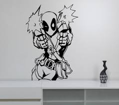 popular marvel vinyl stickers buy cheap marvel vinyl stickers lots deadpool vinyl decal wall sticker marvel comics superhero art decoration living room playroom children boys room