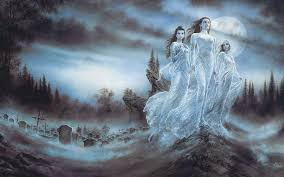 spirit halloween fangs luis royo night forests blood moon brides ghosts fantasy art