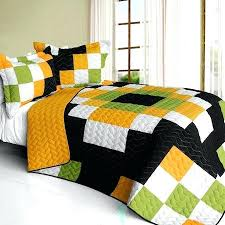Green And Yellow Comforter Black And Yellow Quilts U2013 Boltonphoenixtheatre Com