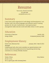 Sample Resume For Employment by Free Resume Builder Resume Com