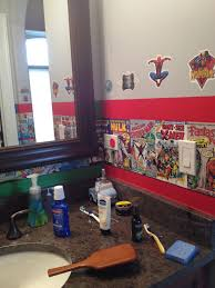 theme bathroom marvel comics theme bathroom awesome kid rooms