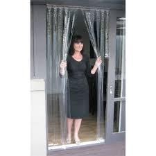 pvc door curtain zone hardware 900 x 2000mm 0 5mm clear pvc door curtain bunnings