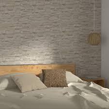 papiers peints 4 murs chambre intissé parement coloris beige beige calcaire papier peint