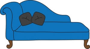 Blue Chaise Lounge Chaise Lounge Clipart Image Clipart Illustration Of A Blue