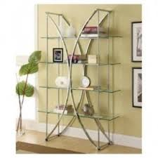 Metal Book Shelves by Metal And Glass Etagere Foter