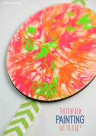 Simple Fall Crafts For Kids - easy toothpick painting with kids club chica circle where