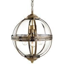 Antique Brass Pendant Light by Mayfair 3 Light Ceiling Lantern Pendant 3413ab