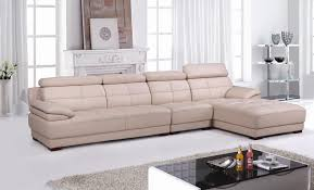 Sectional Sofas Free Shipping Free Shipping Beige Leather Top Grain Cattle Leather Lshaped