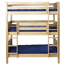 Maxtrix HOLY Triple Bunk Bed In Natural With Panel Bed Ends - Maxtrix bunk bed
