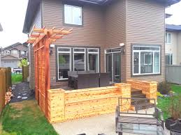 cedar planters with privacy screen and pergola craftsman deck
