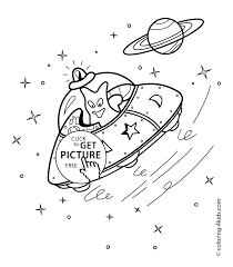free printable space coloring pages spacecraft coloring pages with alien for kids printable free
