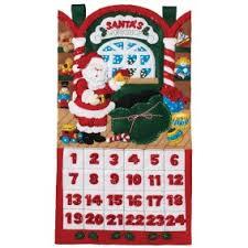 lighted santa s workshop advent calendar bucilla seasonal home decor christmas kits merrystockings