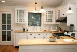 Maple Wood Kitchen Cabinets Cool Blue Tiles Backsplash Black Modern Stove Country Cottage