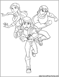 alienforce coloring page