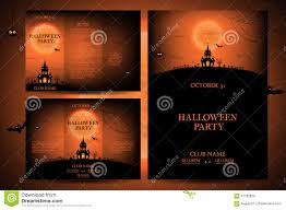 set of flyers for halloween vector illustration stock vector