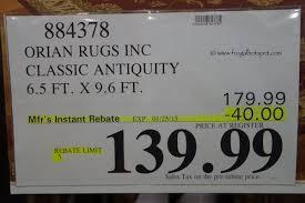costco deal orian rugs classic antiquity rug 6 5 u0027 x 9 6 u0027 frugal