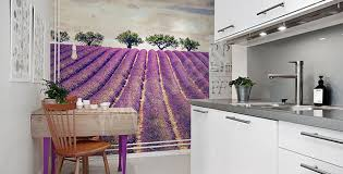 cuisine lavande papiers peints lavande mur aux dimensions myloview fr