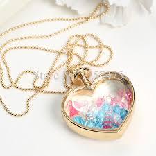 glass bottle necklace pendant images Tdiyj wholesale heart shape locket necklace lucky stars glass jpg