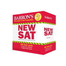 barron u0027s new sat flash cards 3rd edition 500 flash cards to help
