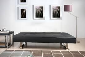 canap clic clac noir decoration moderne fonctionnel canapé clic clac noir pieds