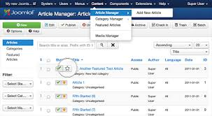 Articles Joomla Featured Articles Detailed Tutorial