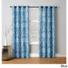 Teal Damask Curtains Blue Damask Curtains Drapes For Less Overstock