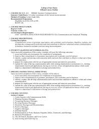Resume Punctuation College Of San Mateo Official Course Outline Course Id Semester