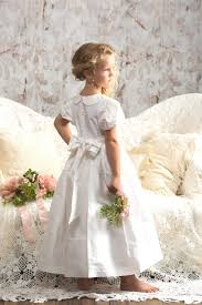 heirloom communion dresses white silk flower girl dress sash heirloom strasburg children size 4 8