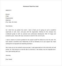 Retirement Thank You Letter Template retirement letter template 12 free word pdf documents