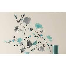 room mates deco blossom watercolor bird branch wall decal deco blossom watercolor bird branch wall decal