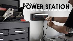 winplus led utility light review power station with built in led work light and bluetooth speaker