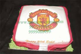 manchester united cake cakes delivery gurgaon send