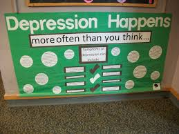 bulletin board idea mental health awareness pinterest