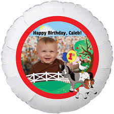 butterfly 1st birthday large personalized photo balloon