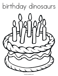birthday dinosaurs coloring page twisty noodle