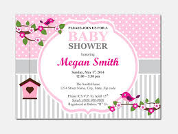 free baby shower invitations templates for word free ba shower