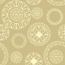 seamless pattern with elements of russian ornaments stock vector