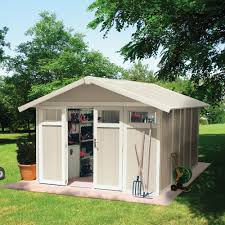 decor ivory plastic waterproof backyard sheds costco for amazing