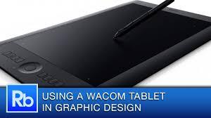 design tablet using a wacom tablet as a graphic designer