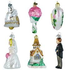 old world christmas wedding collection ornament box set kitchen